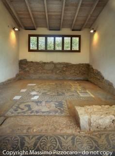 Greece, Euboea (Evia), Eretria, The House of Mosaics