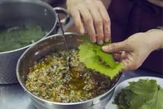 GREECE : CRETE Enagron agro-village, Axos village cooking lessons, dolmadakia ©(c) Massimo Pizzocaro