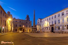 FRANCE : PROVENCE : ARLES Place de la Republique. Night view ©Massimo Pizzocaro