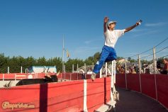 FRANCE : PROVENCE : ARLES The traditional Course Camarguaise Local style bloodless bullfight at Espace Toros a few Km from the city, at Corrales de Gimeaux ©Massimo Pizzocaro